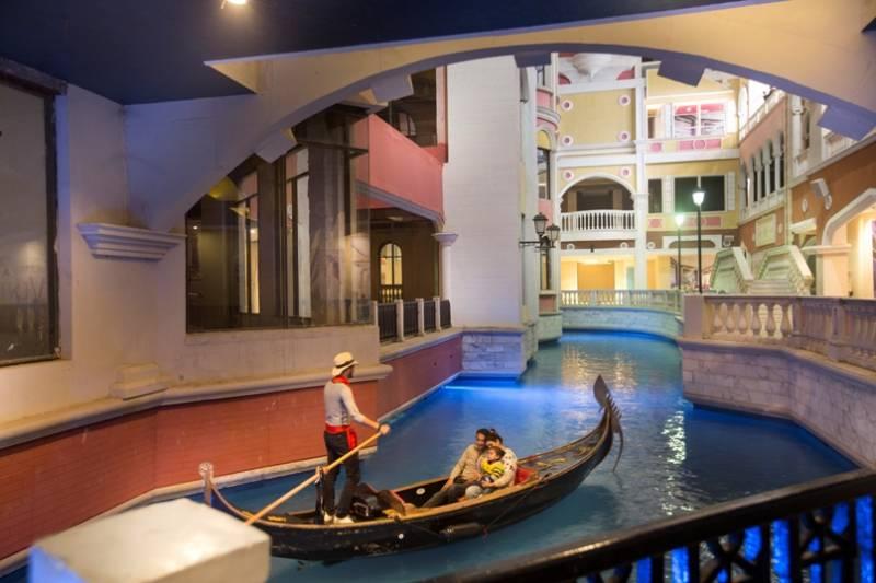 Grand Venice Mall With Canals, Gondolas #grandvenice