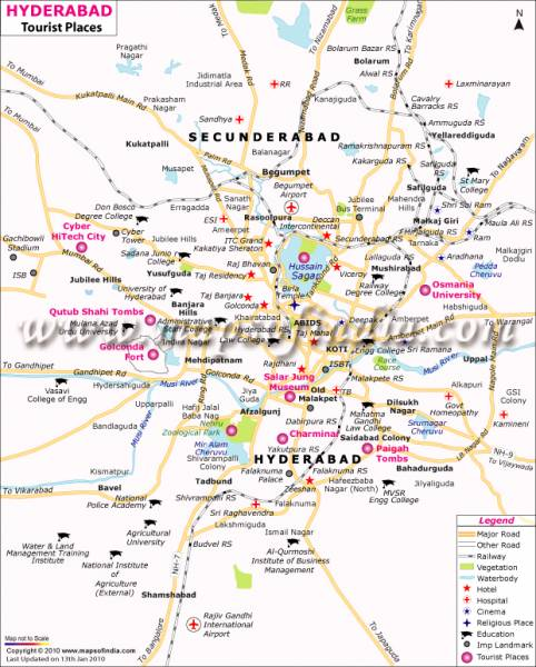 Travel To Hyderabad - Tourism, Destinations, Hotels, Transport