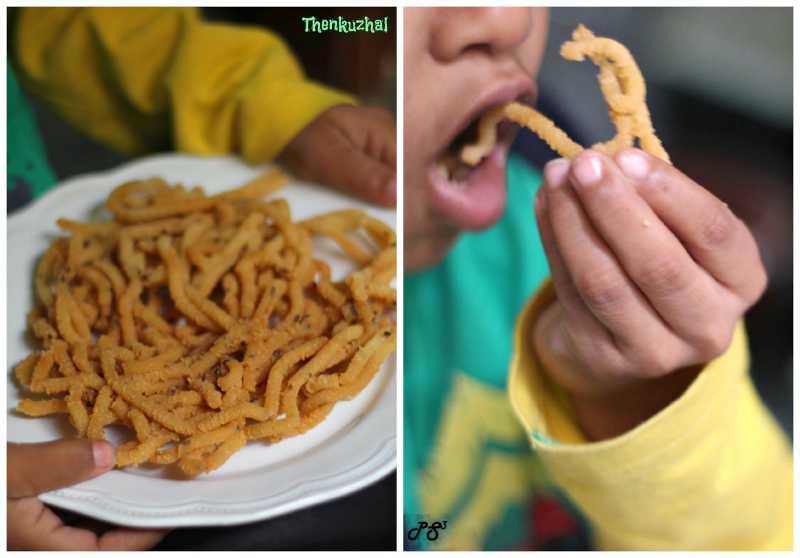 """Happy Deepavali To All"" - Enjoy Thenkuzhal - A Savoury Snack"
