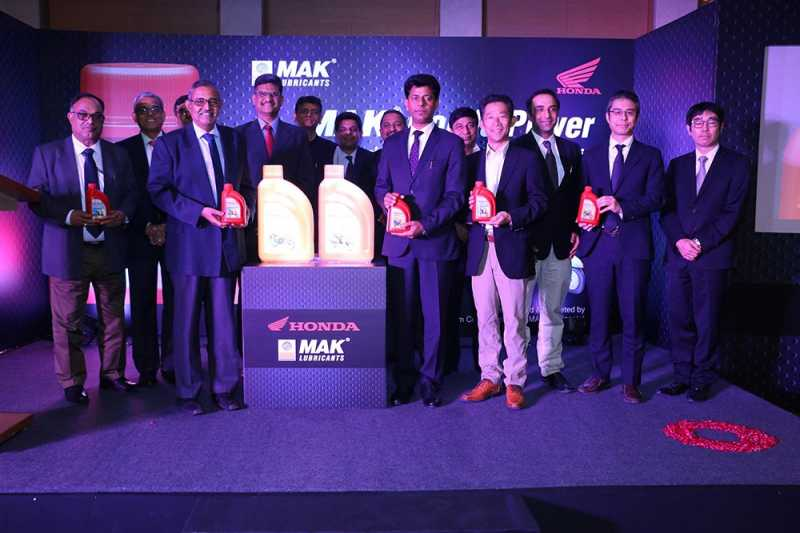 """""""MAK Honda Power"""" Engine Oil Launched In Association With Honda 2W And BPCL"""