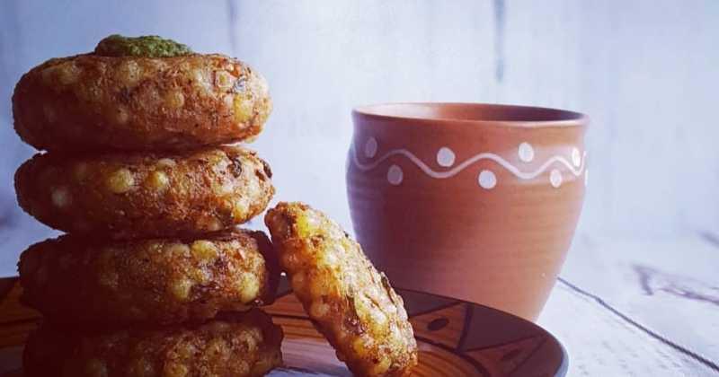 Sabudana Pakoda   Sabudana Vada   Crispy Sago Fritters   Vrat Recipe