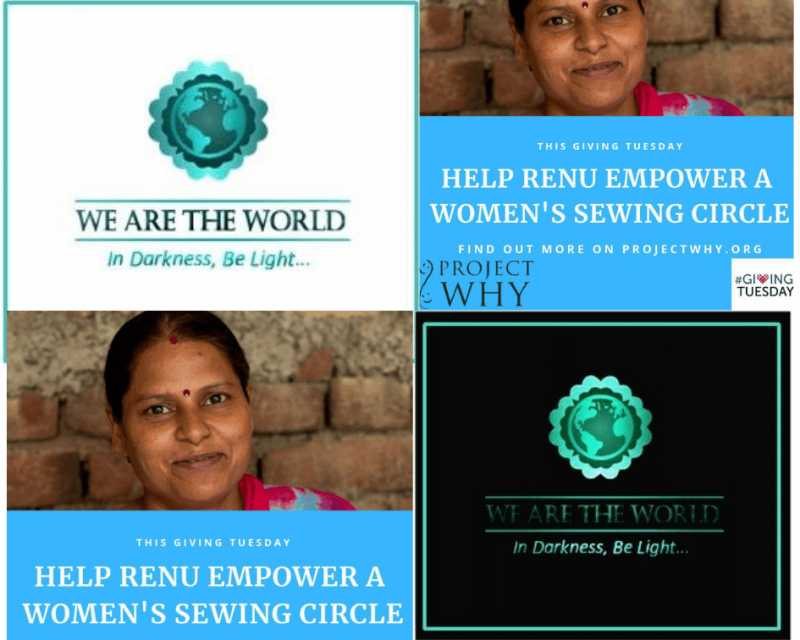 #WATWB HELP EMPOWER A WOMEN SEWING CIRCLE  #ProjectWhyDelhi #GivingTuesday