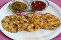 मकई के दानों से बनाइए स्वादिष्ट चीला (corn pancake)