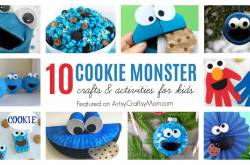 10 Fun Crafts for Cookie Monster Day!