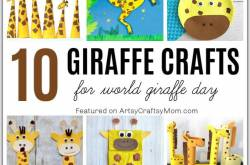10 Groovy Giraffe Crafts for Kids | World Giraffe Day Crafts