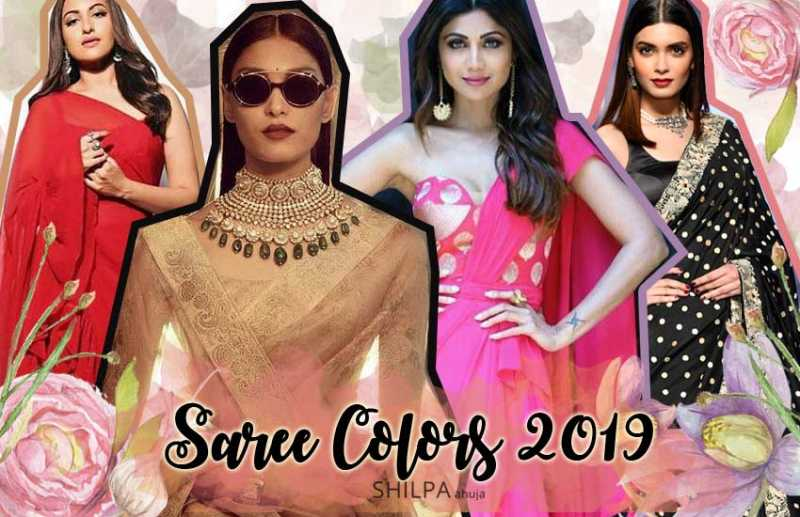 11 Saree Color Trends For 2019 From Runways & Bollywood Celebs