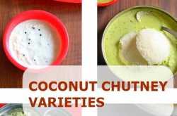 15 coconut chutney recipes - coconut chutney varieties for idli, dosa