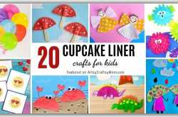 20 Cute and Easy Cupcake Liner Crafts for Kids