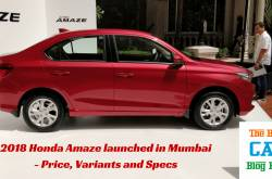 2018 honda amaze launched in mumbai - the best car blog ever