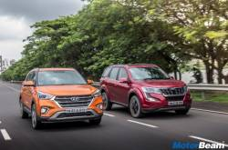 2018 Mahindra XUV500 Vs Hyundai Creta - Video Shootout | MotorBeam