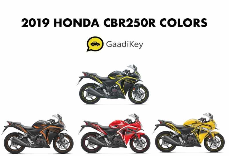 2019 Honda CBR250R Colors - Yellow, Red, Orange, Green