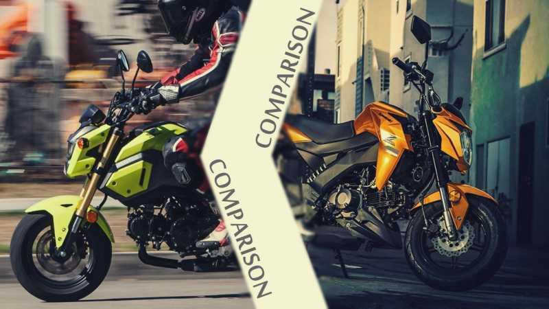 2019 Honda Grom Vs Kawasaki Z125 Pro | Comparison - Autopromag