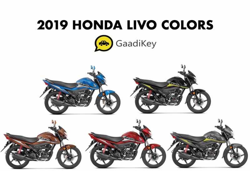 2019 Honda Livo Colors - Black, Red, Brown, Grey, Blue