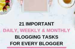 21 Critical Blogging Tasks Every Blogger Must Do For a Healthy Blog