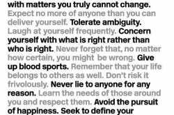 25 principles of adult behaviour - art by aarohi