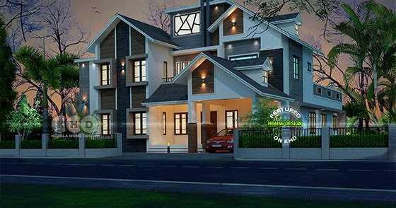 Thomas Lewis Blogs 3605 Sq Ft Modern Mixed Roof Home Plan Blogadda