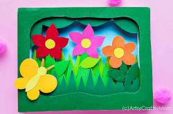 3D Flower Garden Shadow Box Craft