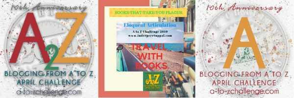 A For Australia #TravelWithBooks #AtoZchallenge @AprilA2Z