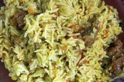 ANGLO-INDIAN GREEN MASALA  MEAT PALAU