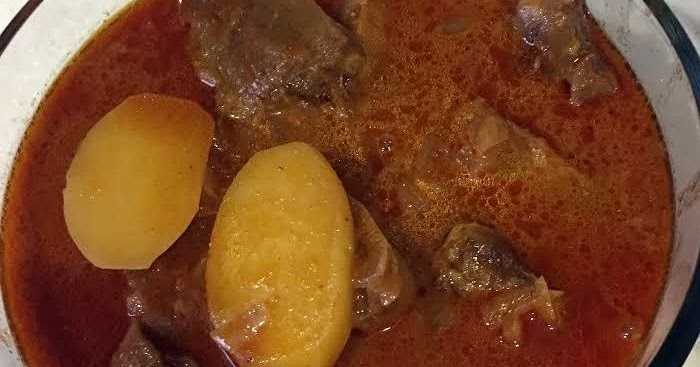 ANGLO-INDIAN MEAT AND POTATO CURRY
