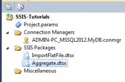 Aggregate Transformation in SSIS
