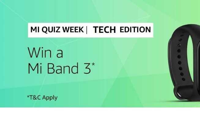 Amazon Mi Band 3 Quiz Answers - Win Mi Band 3   TOPHUNT