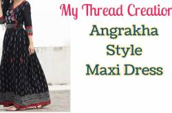 Angrakha Style Maxi Dress Cutting