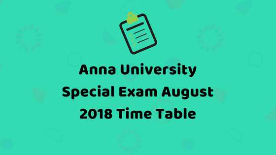 Madhu Mathi Blogs Anna University August 2018 UG/PG Special Exams