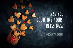 are you counting your blessings?   vidya sury, collecting smiles