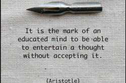 Aristotle on an educated mind