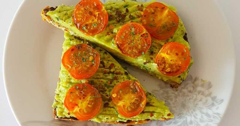 Avocado & Roasted Tomatoes On Toast