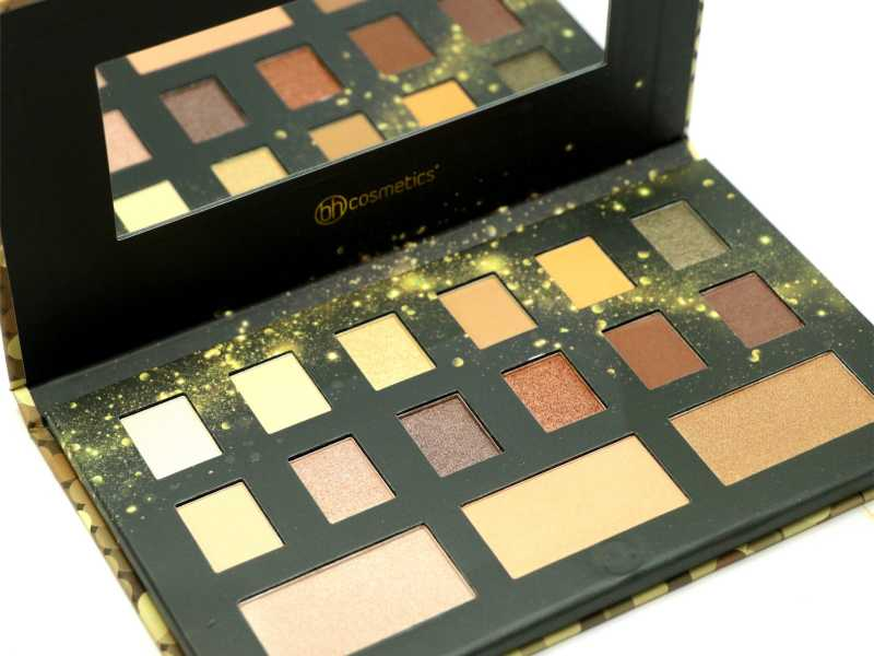 BH Cosmetics Gold Rush Eye And Cheek Palette Review, Swatches