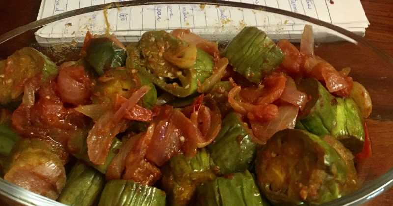 BRINJAL / EGGPLANT WITH TOMATOES