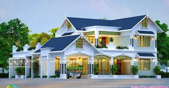 Thomas Lewis Blogs Beautiful 4 Bedroom Mix Roof Kerala Home Design Blogadda