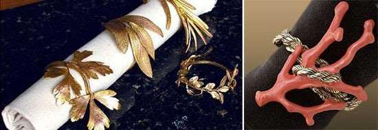 Beautiful Napkin Ring Designs   Stylish Serviette Ring Set