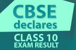 cbse class 10 board exam 2019 results announced today