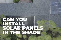 can i put solar pool heating panels in the shade - florida solar design group