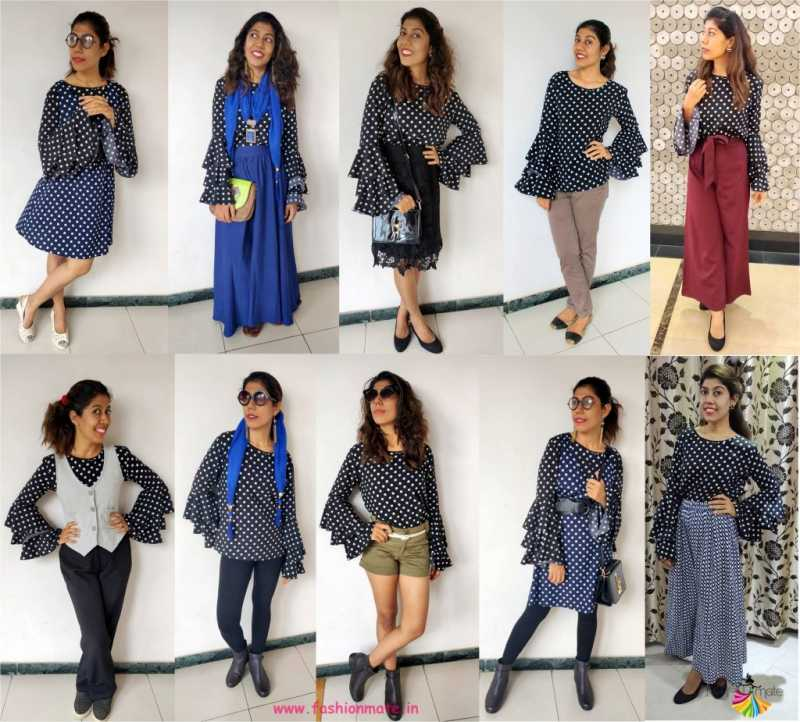 Capsule Wardrobe - 10 Stylish Ways To Wear Your Bell Sleeves Top!