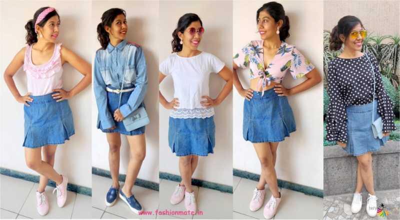 Capsule Wardrobe - 5 Different Ways To Wear Denim Skirt This Summer!