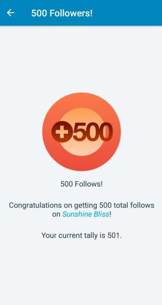 Celebrating #500 Followers