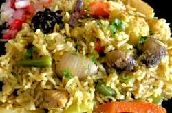 chicken and vegetable pulao