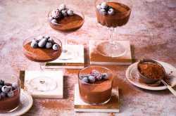 chocolate coffee mousse - the white ramekins