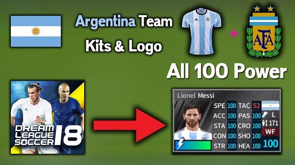Siva Network Blogs DLS Argentina Kits And Logo All 100 Power Dream