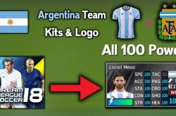 dls argentina kits and logo all 100 power dream league soccer 2018