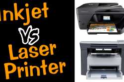 difference between inkjet and laser printer हिंदी में जानिए