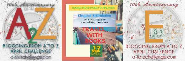 E Is Egypt #TravelWithBooks #AtoZchallenge @AprilA2Z