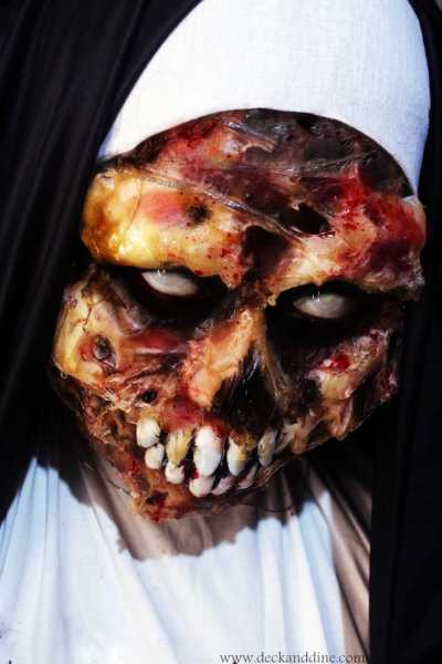 Easy Halloween Zombie NUN Makeup Tutorial