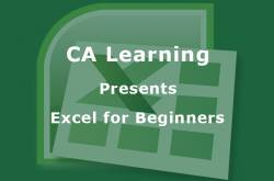 excel for beginners, a new add-on for professionals by ca learning