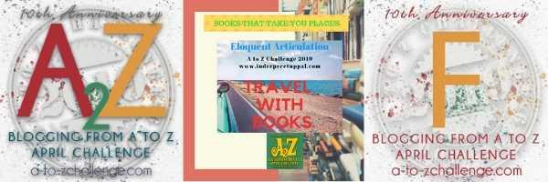 F Is France #TravelWithBooks #AtoZchallenge @AprilA2Z