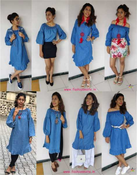 Fashion Restyle - 8 Different Ways To Wear Denim Dress In 2019